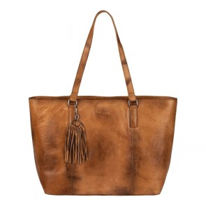 Burkely Noble Nova Wide Shopper Cognac Voorkant