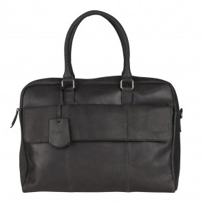 Burkely On The Move Laptopbag Flap Black 15 inch Voorkant