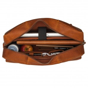 Burkely On The Move Laptopbag Flap Cognac 15 inch Open