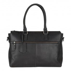 Burkely On The Move Laptopbag Zipper Black 15 inch Voorkant