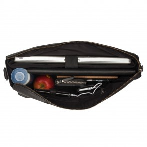 Burkely On The Move Laptopbag Zipper Black 15 inch Open
