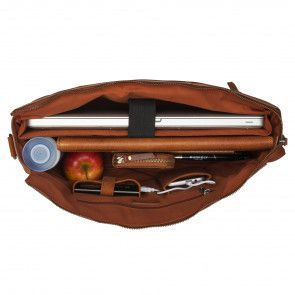 Burkely On The Move Laptopbag Zipper Cognac 15 inch Open