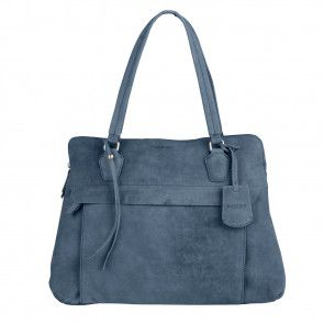 Burkely Stacey Star Laptop Bag Atlantic Blauw 15 inch Voorkant