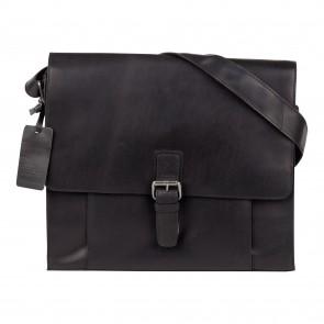 Burkely Mick Vintage Shoulderbag Classic Black 14 inch Voorkant