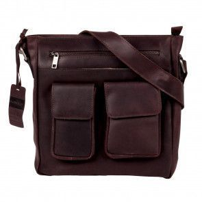Burkely Vintage Beau Cross Over Shoulderbag Brown Voorkant