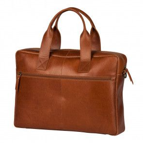 Burkely River Vintage Business Shoulderbag Cognac 15 inch Achterkant