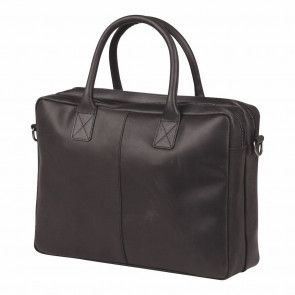 Burkely laptoptas Vintage Shoulderbag Black 16 inch Voorkant