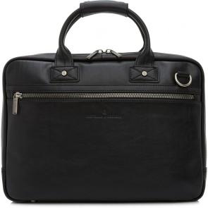Castelijn & Beerens Heren Leren Laptoptas 15.6 inch 1 Vaks RFID Firenze Zwart Voorkant