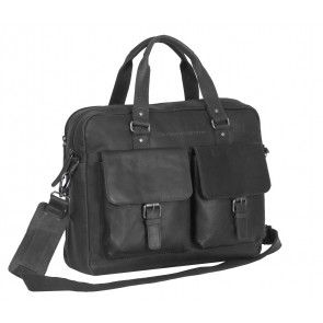 Chesterfield George Casual Businessbag Black 15 inch Voorkant