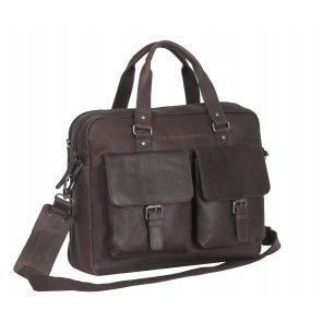 Chesterfield Dylan Businessbag Brown 17 inch Voorkant