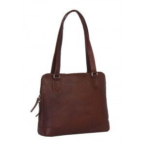 Chesterfield Flint Shoulderbag Small Cognac Voorkant