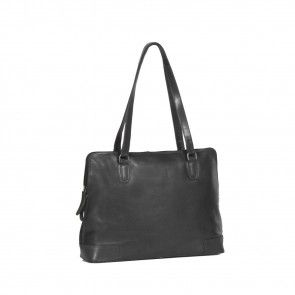 Chesterfield Flint Shoulderbag Large Black Voorkant