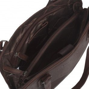 Chesterfield Flint Shoulderbag Small Brown Open