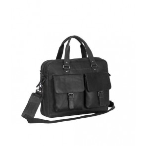 Chesterfield George Businessbag Black 15.6 inch Voorkant