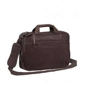 Chesterfield George Casual Businessbag Brown 15 inch Voorkant