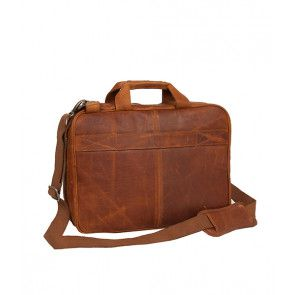 Chesterfield George Casual Businessbag Cognac 15 inch Achterkant