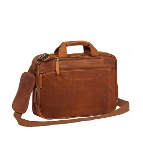 Chesterfield George Casual Businessbag Cognac 15 inch Voorkant