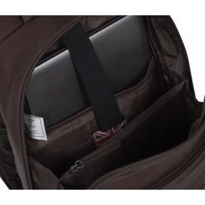 Chesterfield Laptop Rugtas James Bruin 13 inch Binnenkant met laptop