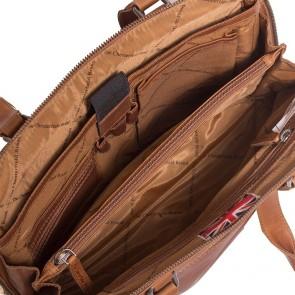Chesterfield Leren Dames Laptoptas 12 inch Cara Cognac Open