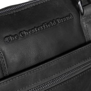 Chesterfield Leren Dames Laptoptas 15 inch Hana Zwart Detail