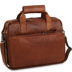 Chesterfield Leren Fietstas Laptoptas 15.6 inch Geneva Cognac Voorkant