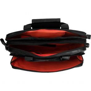 Chesterfield Leren Fietstas Laptoptas 15.6 inch Geneva Zwart Open