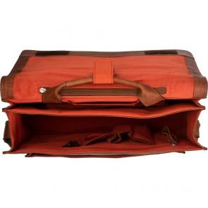 Chesterfield Leren Fietstas Laptoptas 15.6 inch Gent Cognac Open