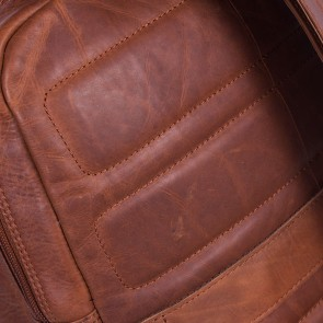 Chesterfield Leren Laptop Rugtas 15 inch Dex Cognac Detail