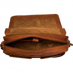 Chesterfield Leren Laptoptas 15 inch Cairns Cognac Open