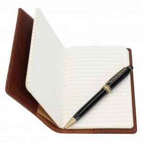 Chesterfield Leren Notitieboekje met Pen Giftset
