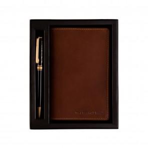 Chesterfield Leren Notitieboekje met Pen Giftset in Verpakking
