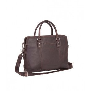 Chesterfield Maria 3-vaks Shoulderbag Brown 15 inch Voorkant