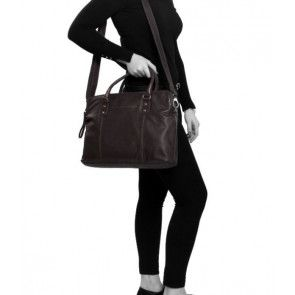 Chesterfield Maria 3-vaks Shoulderbag Brown 15 inch Model