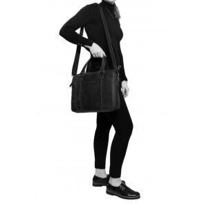 Chesterfield Maria Shoulderbag Black 15 inch Model vrouw