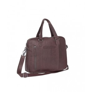 Chesterfield Maria Shoulderbag Brown 15 inch Voorkant