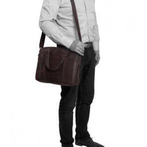 Chesterfield Maria Shoulderbag Brown 15 inch Model man