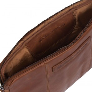 Chesterfield Leren Laptop Sleeve 14 inch Glenn Cognac Open
