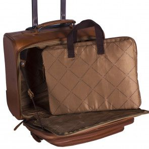 Chesterfield Leren Trolley Xavi Cognac 15 inch Open met laptoptas/sleeve