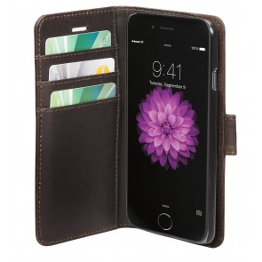 dbramante1928 Copenhagen Leather Wallet iPhone Hunter Dark Open