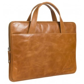 dbramante1928 Silkeborg Leather Sleeve Tan 13 inch Voorkant