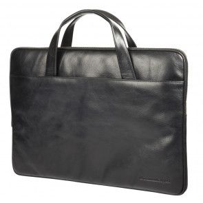 dbramante1928 Silkeborg Leather Sleeve Black 13 inch Voorkant