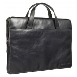 dbramante1928 Silkeborg Leather Sleeve Black 15 inch Voorkant