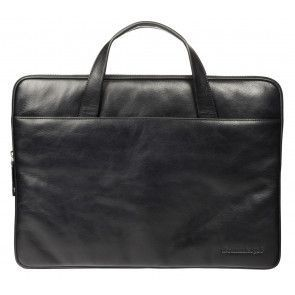dbramante1928 Silkeborg Leather Sleeve Black 15 inch Voorkant