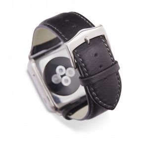 dbramante1928 Copenhagen Watch Strap 42mm Silver/Black omgekeerd