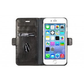 dbramante1928 Copenhagen Leather Wallet iPhone 8/7/6 Plus hoesje Black Open