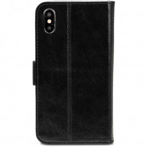 dbramante1928 Copenhagen Leather Wallet iPhone XR Zwart Achterkant