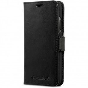 dbramante1928 Copenhagen Leather Wallet iPhone XR Zwart Voorkant