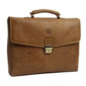 dbramante1928 Frederiksborg Briefcase Tan 14 inch voorkant