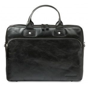 dbramante1928 Helsingborg Businessbag Dark Brown 16 inch Voorkant