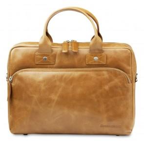 dbramante1928 Helsingborg Businessbag Tan 14 inch Voorkant